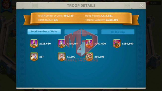 SOLD Account 28M Power ** Maxed 3 Commanders ** 10K Gems