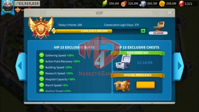 Account 64M Power T5 ** Maxed 3 Commander ** 6M Credits