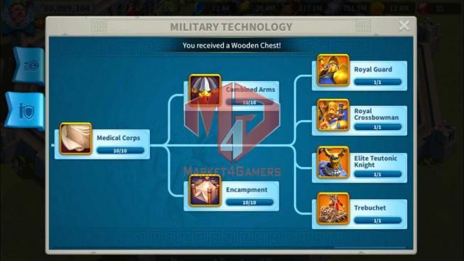Account 80M Power ** Maxed 7 Commanders ** 8M1 Credits ** 2 Farm Account