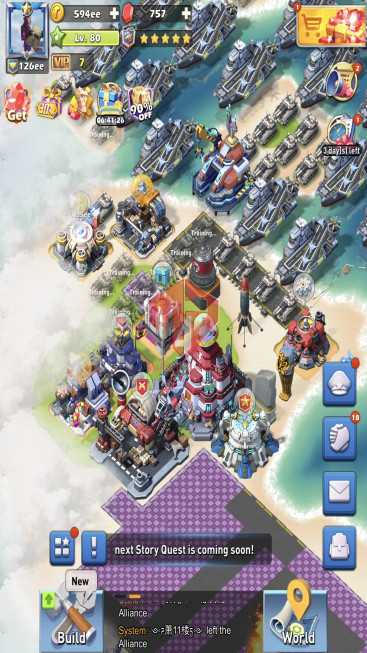 Lv80 Vip7 S691 25 Hero Legendary – Max Nimitz Lv120 – 8 Hero Purple – 126ee Power