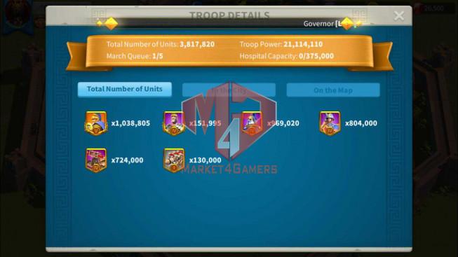 SOLD Account 68M Power ** Maxed 6 Commanders ** 4 Farm Accounts ** 26K Gems