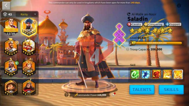 SOLD Account 27M Power ** Maxed Saladin ** 2 Farm Accounts ** 1M4 Credtis