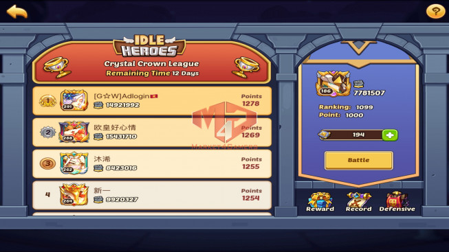 IOS – LV 186 – S108 – Vip 0 – 1 Void Heroes Asmodel – 6 Heroes E5 – 14 Skin–7M7 Power
