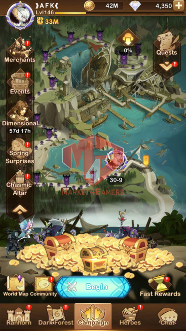 AFK 33M –VIP 8–s753 –13 Heroes Ascended