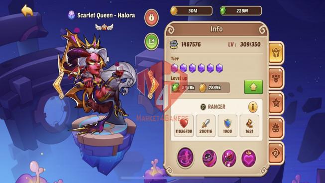 iOS – LV 211 – S1232 – Vip 9 – 1 Void Heroes Halora – 10 Heroes E5 – 16 Skin–6M6 Power