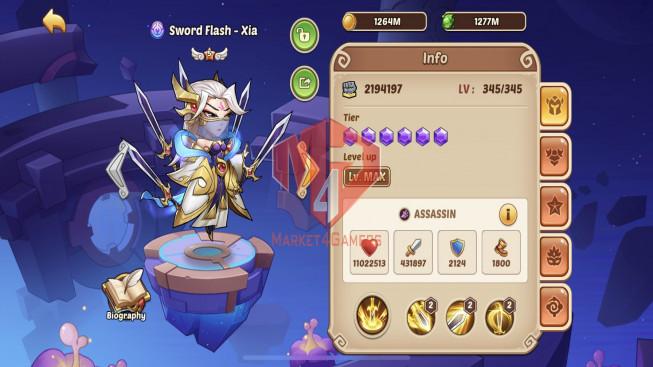[SOLD]-iOS – Lv232 – S109 – VIP 6 – 1 Void Heroes Xia- 8 Heroes E5 – 6M9 Power