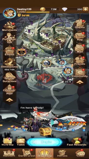 AFK 561M –VIP 10– S123 — 52 Heroes Ascended – FULL Dimensional Heroes
