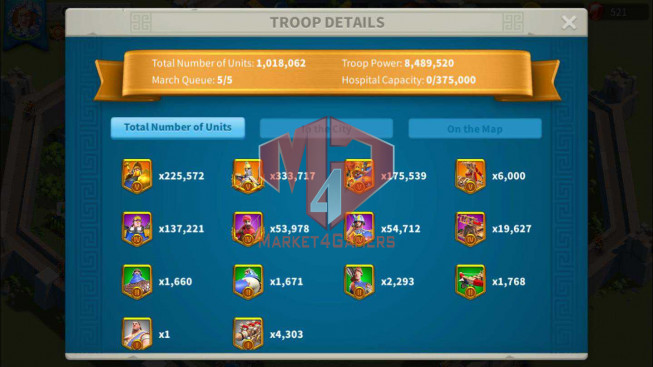 Account 61M Power ** Maxed 7 Commanders ** Farm Account