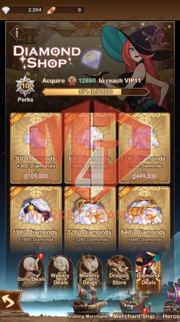 AFK 170M — Vip 10 — S552 — 34 Heroes Ascended –7 Dimensional Heroes