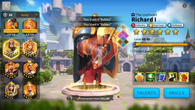 SOLD Account 29M Power ** Maxed Richard, Aethef ** 600K Credits