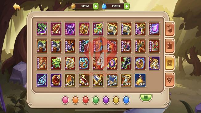 iOS – Lv288 – S83 – VIP 9 – 2 Void Heroes Halora + Xia – 15 Heroes E5 – 30 Skins – 7M Power
