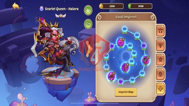 iOS – Lv274 – S64 – VIP 8 – 1 Void Heroes Halora – 10 Heroes E5 – 23 Skins – 7M7 Power