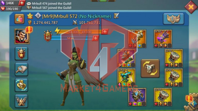 [ Super Sale Off ] T5 Leader Account 1B2 – 146K Gems – War & Hunter Gear Perfect -500M Research – 34 Migrations Scroll – 1149$