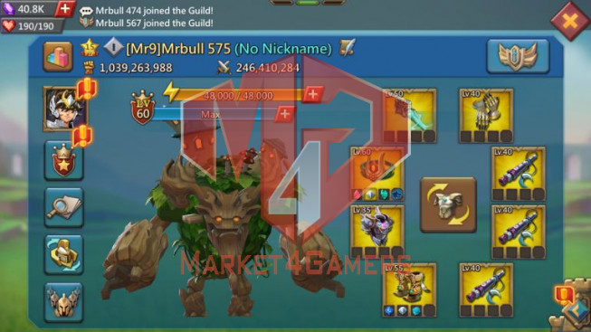 T5 Leader Account 1B039 – Max Wonder Research – 658M Research – 21 Migrations – 1300$