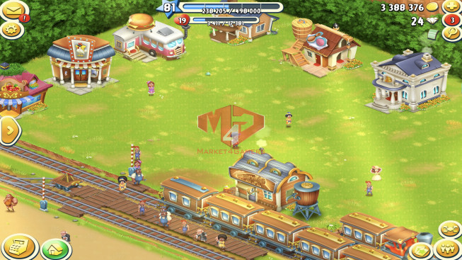 [SuperCell ID]–Account lv81 –barn storage 3500 –silo storage 2000 — Tackle 75 — Train Lv19