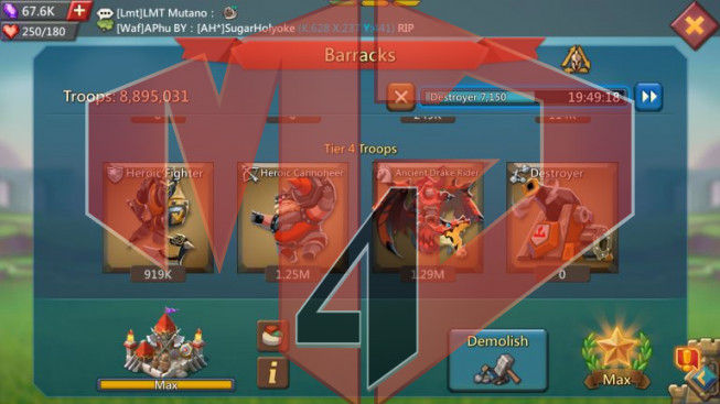 [ SALE OFF 20% ] Account 508M Might – 8M8 Troop II War Gear Perfect II Gift Unblocked II Pet 4 + 5 Perfect II 489$