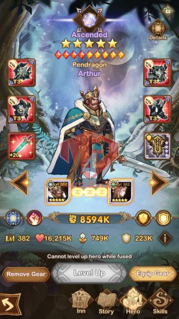 AFK 343M — Vip 10 — S299 — 37 Heroes Ascended –7 Dimensional Heroes