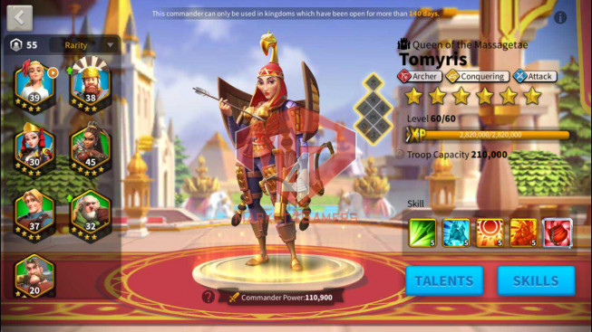 SOLD Whale Account 93M Power ** Maxed 18 Commanders ** Specializing Archers ** Skin Legend