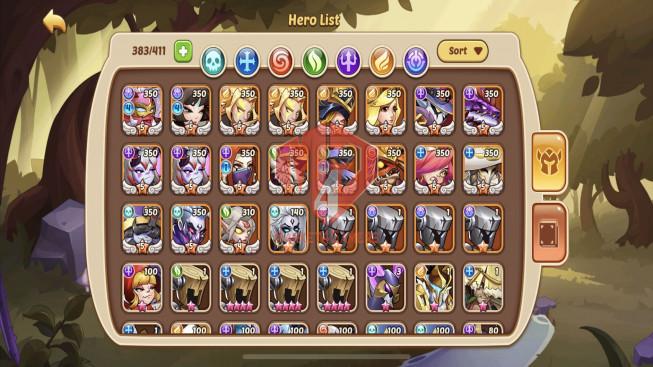 iOS – Lv306- S47 – VIP 8 – 2 Void Heroes Halora + Xia – 18 Heroes E5 – 27 Skins – 7M1 Power