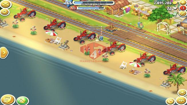 [SuperCell ID]–Account lv166 — Barn Storage 10100 — Silo Storage 6100 — Tackle 145 — Train Lv19