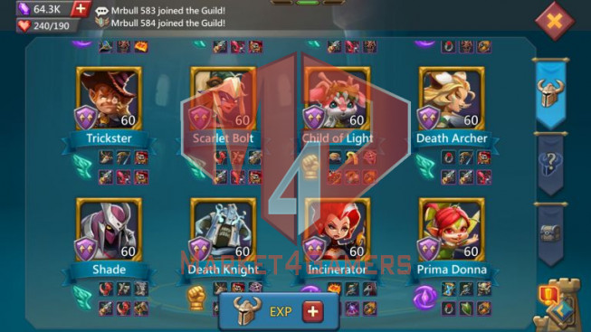 Account 932M – 317M Research – Pact 4 Great – 2 Castle Skin – 27M Troop