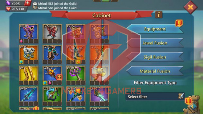 Account 307M – 217M Research – 256K Gems – 3 Migrations Scroll