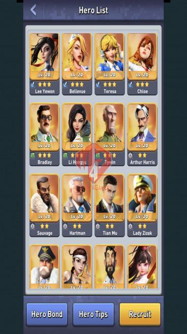 All Devices Account – Lv 80 – 31 Heroes Legendary – Max Nimitz, Amalia – 3 Base Skin