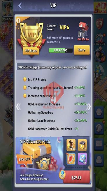Lv80 Vip 6 S985 33 Hero Legendary – Max Nimitz – 9 Hero Purple – 110ee Power – 4 Base Skin