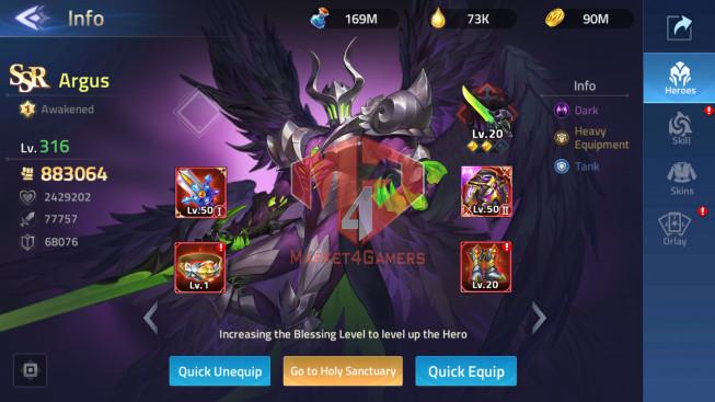 Account Lv212 – Vip 10 – 23 Heroes Awakened -S30266 -Skin Epic Lancelot