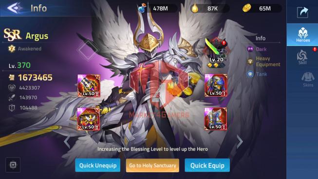 Account Lv 247 Vip 12 40 Heroes Awakened – 7 Skin Epic