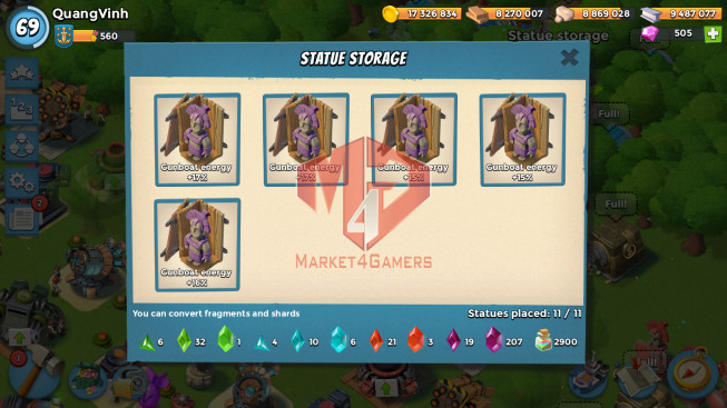 Account LV 69 I HQ 24 I 505 Gems I Power Powder 2900