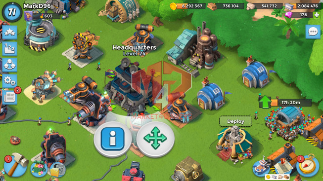 Account LV 71 I HQ 24 I 178 Gems I Power Powder 656
