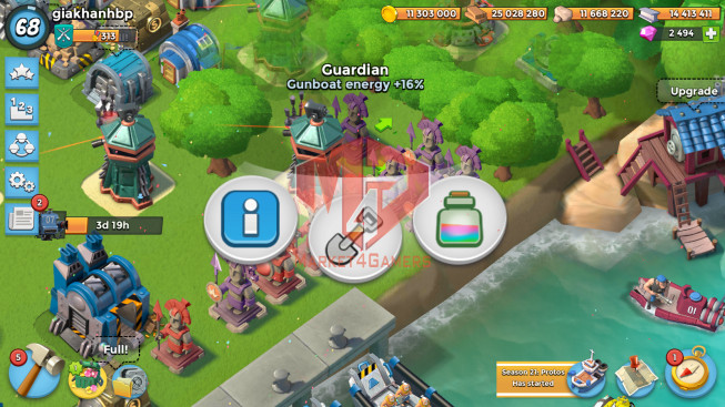 Account LV 68 I HQ 24 I 2494 Gems I Power Powder 2526