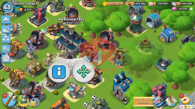 Account LV 68 I HQ 24 I 12001 Gems I Power Powder 875