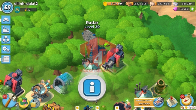 Account LV 68 I HQ 24 I 13536 Gems I Power Powder 794