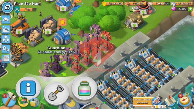 Account LV 67 I HQ 24 I 16309 Gems I Power Powder 1216