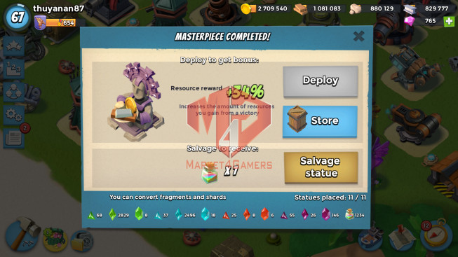 Account LV 67 I HQ 24 I 765 Gems I Power Powder 1234