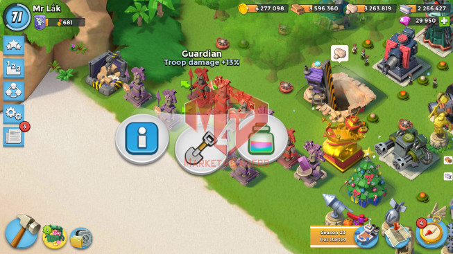 Account LV 71 I HQ 24 I 29950 Gems I Power Powder 3064