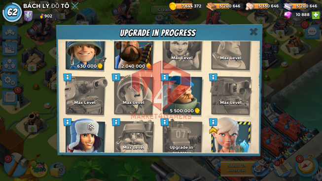 Account LV 62 I HQ 24 I 10888 Gems I Power Powder 1200