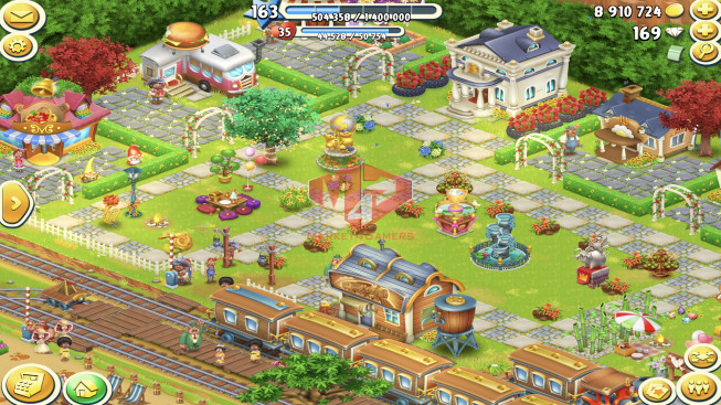 [SuperCell ID]–Account lv163 — Barn Storage 7200 — Silo Storage 5550 — 169 Diamond — Tackle 135 — Train Lv19
