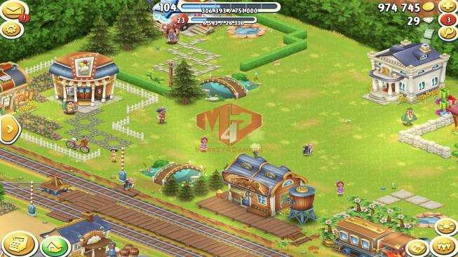[SuperCell ID]–Account lv104 — Barn Storage 4050 — Silo Storage 2500 — Tackle 70 — Train Lv15