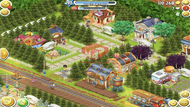 [SuperCell ID]–Account lv90 — Barn Storage 4400 — Silo Storage 4200 — Tackle 115 — Train Lv19