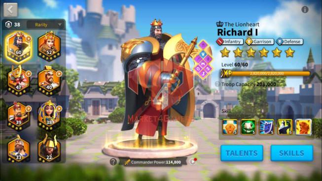 Account 23M Power ** Maxed Richard ** 12K Gems