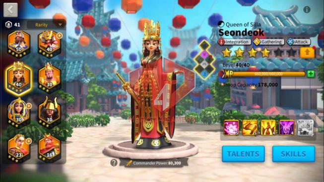 Account 40M Power ** Maxed Khan, Aethef ** 16K Gems ** Castle 24