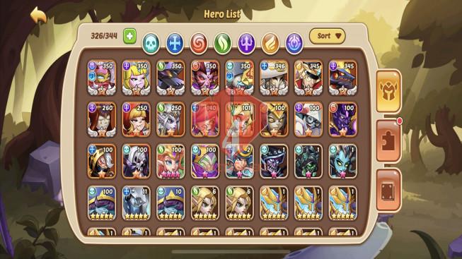 iOS – Lv201 – S109 – VIP 7 – 1 Void Heroes Halora – 8 Heroes E5 + 1 Heroes E1 – 18 Skins – 6M7 Power