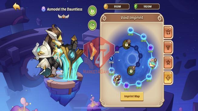 iOS – Lv250 – S110 – VIP 6 – 2 Void Heroes Asmodel + Halora – 10 Heroes E5+1e1 – 21 Skins – 8M9 Power