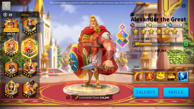 Account 27M Power ** Maxed Alex, Aethef ** Good Gear Infantry ** 4M3 Credits