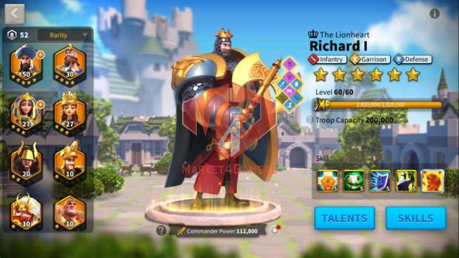 Account 48M Power ** Maxed 4 Commanders ** 6M6 Credits