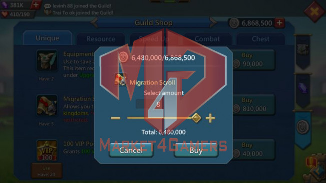 Trap Account 707M – 381K Gems – Watcher Gold – 233M Research – 27M Troop – Pact 4 Great