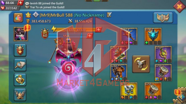 Account 382M – 159M Research – 88K Gems – 13M Troop – Pact 4 Great